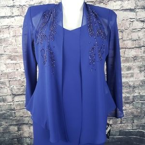 R&M Richards Royal Blue 2PC Suit Size 12